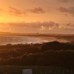 Playa Mansa waves at sunset