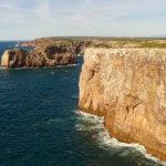 Cabo de Sao Vicente cliffs and sea