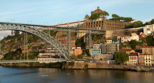 Porto bridge sunset