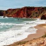 Praia do Amado red beach