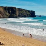 Praia Arrifana surfers