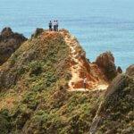 Praia do Camilo hikers